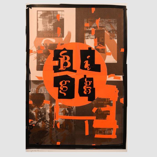 Chris Bigg Unique Poster in orange
