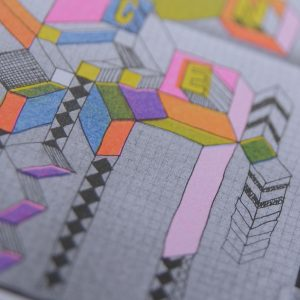 Morag Myerscough risograph by Unseen Sketchbooks