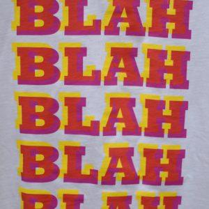 T-Shirt by Studio245 BLAH BLAH BLAH detail