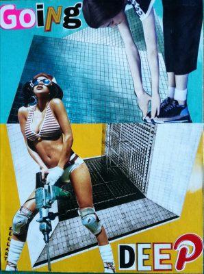 Daniele Cenni collage artist Italy