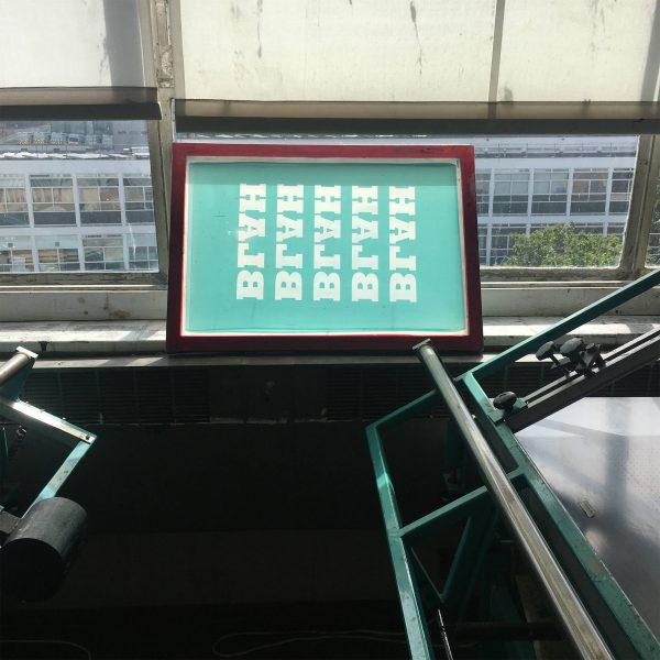 BLAH BLAH BLAH hand screen print