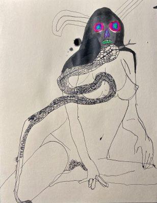 Kellesimone Waits artist LA USA