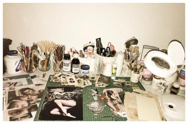 Roberta Guarna collage artist Italy