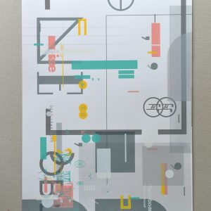 Screenprint: Tim O'Donnell / Chris Hunt – Turquoise