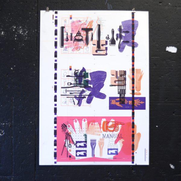 George Hardie Strike Sheet print